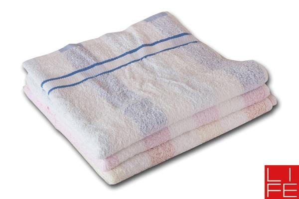 來福牌直條粉彩浴巾
